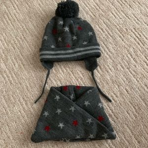 zara knit hats with star pom pom hat snood sets